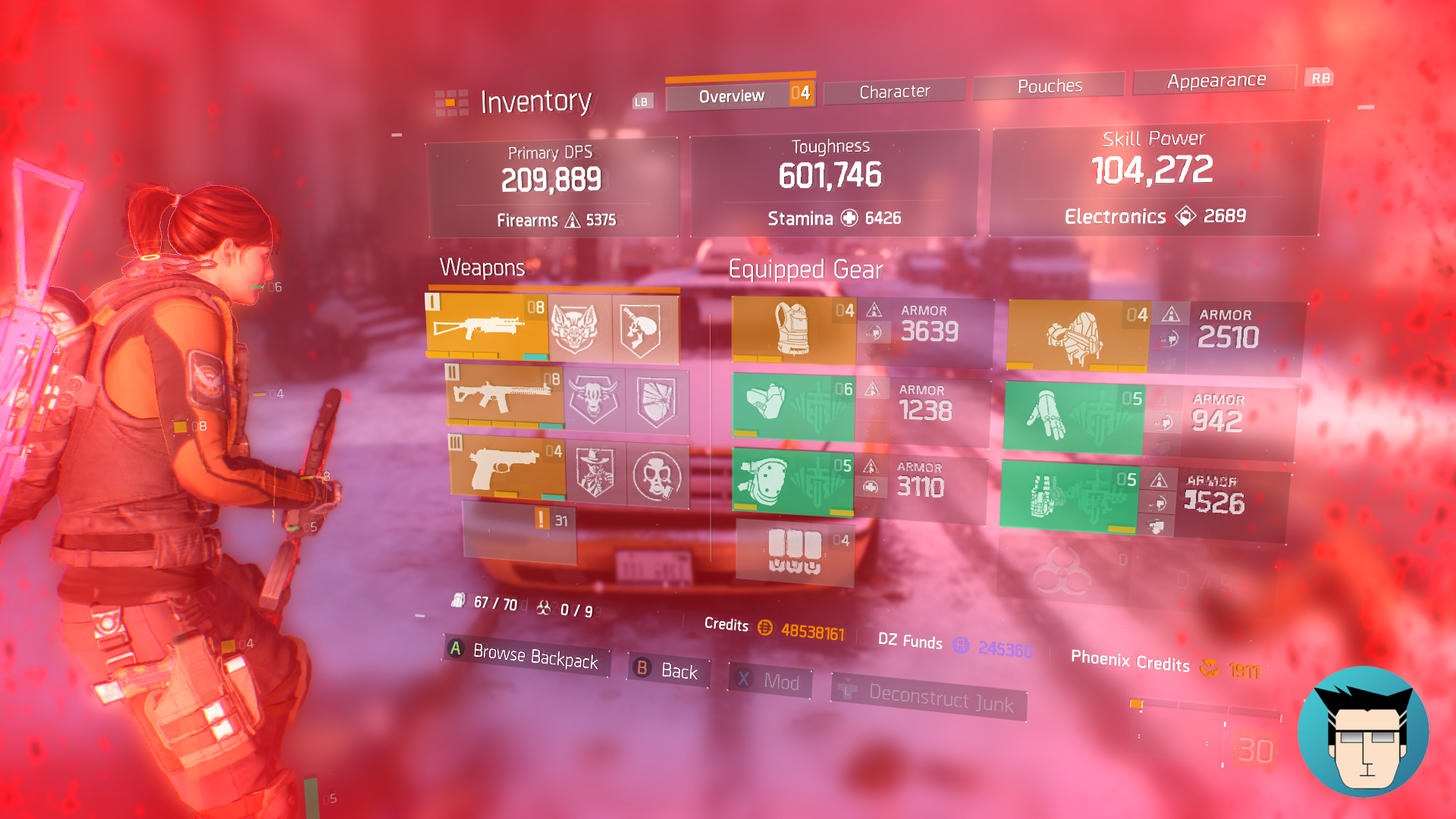Overview | 600k Toughness, buffed with critical save