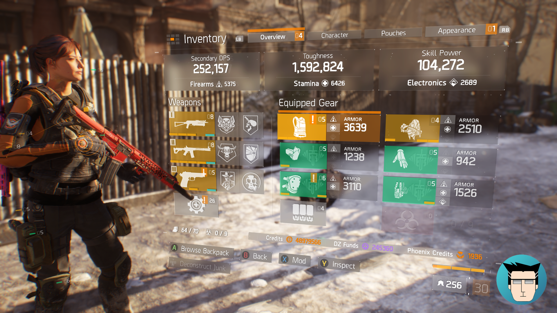 Overview | 1.59m Toughness, 2 skills on cooldown and buffed with critical save