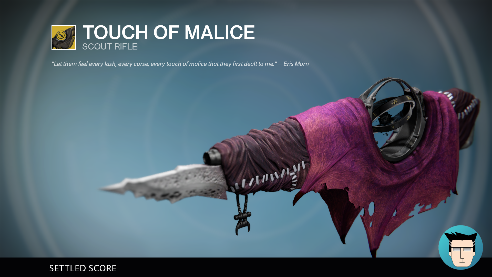 TOUCH OF MALICE | SETTLED SCORE